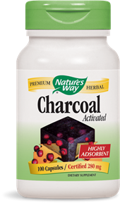 Activated Charcoal 100 Capsules - Product Image