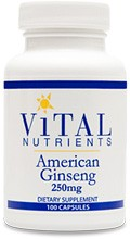 American Ginseng 250mg 100 caps. - Product Image