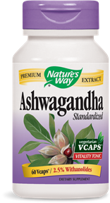 Ashwagandha Standardized 60 Vcaps - Product Image