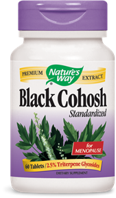 Black Cohosh Standardized 60 Tablets - Product Image