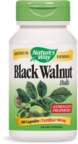 Black Walnut Hulls 100 Capsules - Product Image