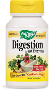 Digestion with Enzymes 100 Capsules - Product Image