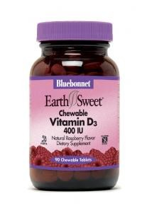 EarthSweet Chewables Vitamin D3 400 IU 90 Tablets - Product Image