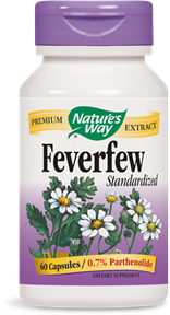 Feverfew Standardized 60 Capsules - Product Image
