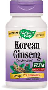 Korean Ginseng Standardized 60 Vcaps - Product Image