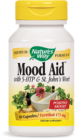 Mood Aid(TM) with 5-HTP & St. John's Wort 60 Capsules - Product Image