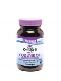Natural Omega-3 Arctic Cod Liver Oil 90 Softgels - Product Image