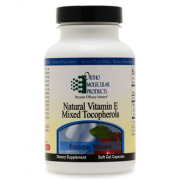 Natural Vitamin E Mixed Tocopherols 60CT Soft Gel Capsules - Product Image