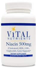 Niacin 500mg Extended Release 90 tabs - Product Image