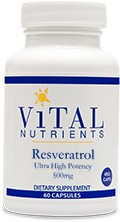 Resveratrol 500mg, Ultra High Potency 60 veg. caps. - Product Image