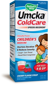 Umcka® ColdCare Children's Soothing Syrup (Cherry) 4oz. - Product Image