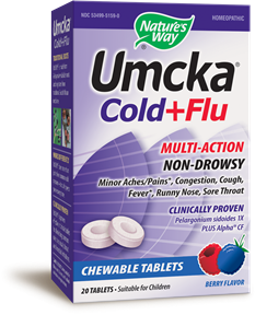 Umcka® Cold+Flu Chewable 20 chewables - Product Image