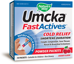 Umcka® FastActives(TM) (Cherry) 10 packets / box - Product Image
