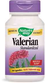 Valerian Standardized 90 Capsules - Product Image
