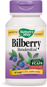 Bilberry Standardized 90 Vcaps - Product Image