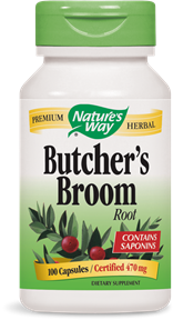 Butcher's Broom Root 100 Capsules - Product Image