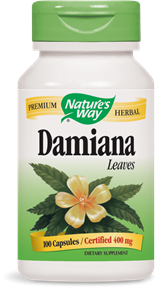 Damiana Leaves 100 Capsules - Product Image
