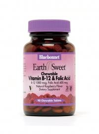 EarthSweet Chewables Vitamin B12 & Folic Acid Tablets - Product Image
