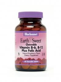 EarthSweet Chewables Vitamin B6, B12 & Folic Acid 60 Tablets - Product Image