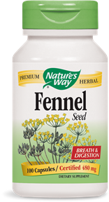 Fennel Seed 100 Capsules - Product Image