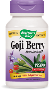 Goji Berry Standardized 60 Vcaps - Product Image