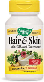 Hair & Skin with MSM and Glucosamine 100 Capsules - Product Image