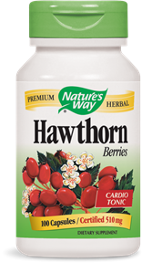 Hawthorn Berries 100 Capsules - Product Image