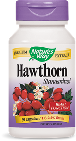 Hawthorn Standardized 90 Capsules - Product Image