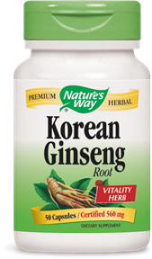 Korean Ginseng Root Capsules - Product Image