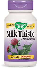Milk Thistle Standardized 60 Capsules - Product Image