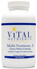 Multi-Nutrients 3 180 caps - Product Image