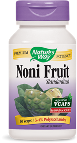 Noni Fruit Standardized 60 Vcaps - Product Image