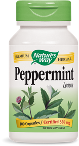 Peppermint Leaves 100 Capsules - Product Image