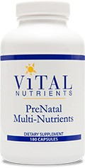 PreNatal Multi-Nutrients 180 caps - Product Image