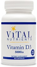 Vitamin D3 5000iu 90 veg caps - Product Image