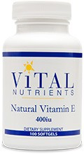 Vitamin E 400iu, Natural 100 gels - Product Image