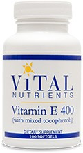 Vitamin E 400iu, Natural (with mixed tocopherols) 100 gels - Product Image