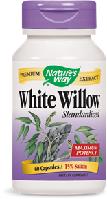White Willow Standardized 60 Capsules - Product Image