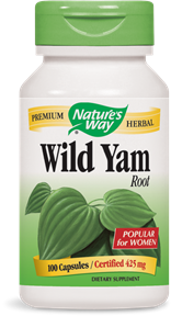 Wild Yam Root 100 Capsules - Product Image