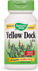Yellow Dock Root 100 Capsules - Product Image